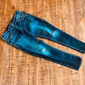 Silver SUKI Mid Skinny Jeans Distressed Size 32